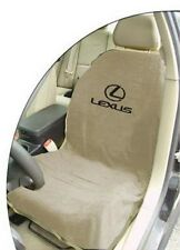 BRAND NEW Universal Tan Seat Armour Lexus Logo Front Seat Cover Towel