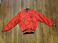 Vtg Howe Athletic Apparel Red Satin Varsity Jacket Sz M Raglan Sleeve