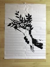 Banksy Gross Domestic Product Flower Thrower Croydon Exhibition