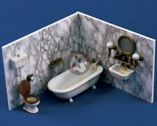 Verlinden 1/35 Bathroom Furniture Bathtub Toilet Fixtures (Walls not incl.) 946