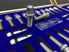 STRFORGED Titanium Wheel Lug Bolts Nuts M14x1.5 For Porsche Mercedes VW Audi BMW