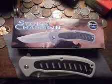 STORM CHASER III 3-1/2 IN BLADE FOLDING LOCK KNIFE ZOMBIE GRAY 19-216GRY