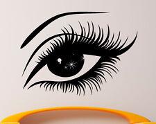 Eyelashes Wall Sticker Vinyl Decal Eye Makeup Interior Mural Home Decor (1eyl4)