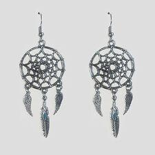 bijou ésotérique magie amerindien Boucles oreilles attrape-rêves plumes d'aigle