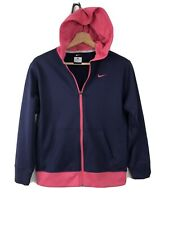 Nike Youth Girls Hooded Full Zip Up Hooded Jacket Purple Pink Size Large