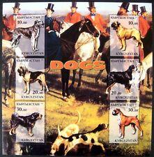 2001 Mnh Kyrgyzstan Dog Stamps Animal Pet Hound Dog Hunting Boxer Bullmastiff