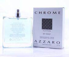 CHROME AZZARO for MEN EAU DE TOILETTE 3.4 Oz/ 100 mL *Tester*