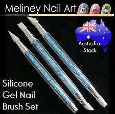5 Tip Silicone UV Gel Nail Art Brush Set Pen Modeling Pro salon supply beauty