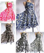Boat Neck Petite Sleeveless Dresses Midi for Women
