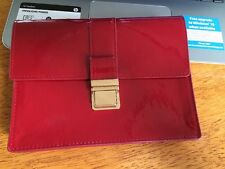 Miu Miu Parfums Faux Red Patent Leather Case Clutch Bag