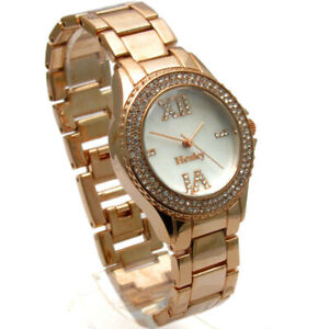 Henley Ladies Diamante Watch – Gold-tone Mother of Pearl Face - Gift Boxed #435
