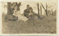 AS THEY WERE Found PHOTO bw 1910's MAN WOMEN Original Snapshot VINTAGE 11 11 X