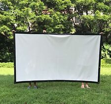 """New 100"""" HD Projector Screen16:9 Diagonal Portable Screen Accessories In/Outdoor"""