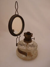 Vintage Ditmar Oil Lamp Base and Reflector with Mirror Made in Germany
