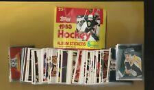 1983-84 Topps Hockey Complete Sticker Set Mint + Album(330)Huge Set 7 Gretzky's
