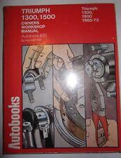 Triumph 1300 & 1500 Autobook Owners Workshop Manual
