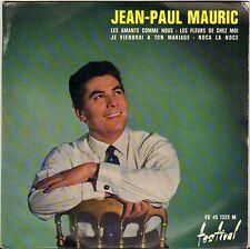 """JEAN-PAUL MAURIC """"LES AMANTS COMME NOUS"""" BOSSA NOVA TWIST 60'S EP FESTIVAL 1325"""