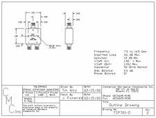 Power Divider SMA 2-Way CMCI 7SP301-2  7.0-14.5 GHz