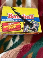 1988 Topps Baseball Yearbook Stickers 48 Sealed Pack Box Cards