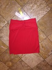 NWT $250 Gottex Red Swimsuit Lattice Cover-up Flyaway Bandeau Dress Women's M