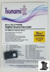 Soundtraxx 885810 Tsunami 2 TSU-21PNEM8 21 Pin Sound Decoder GE ~ 8 Function