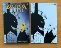 BATMAN DARK NIGHTS DEATH METAL 4 Main Cover + 1:100 Capullo B & W Variant NM
