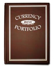 BCW Burgundy Currency Portfolio Combo album 3 Pocket Pages Holds 30Bills(#CS149)