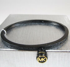 "Michael Kors ""Fashion"" Logo Love Black IP Hinged amilton Charm Bracelet $125"