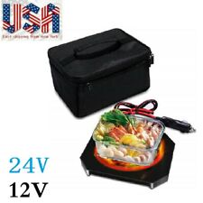 Portable Electric Food Warmers Heating Lunch Box/Bag Mini Oven 12/24V for Car US