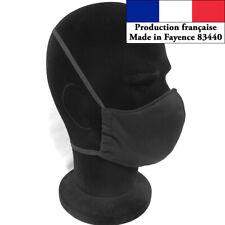 Masque protection Noir design à la mode réutilisable barrière AFNOR