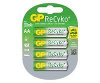 4 x GP ReCyko + AA 2000mAh Ni-MH Rechargeable Batteries HR6 LR6 R6