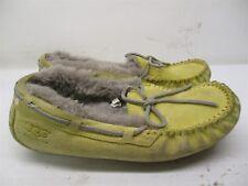 UGG AUSTRALIA Moccasins Women's Size 6 SHEEPSKIN Yellow Leather