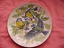 "BRADEX 7.75"" Collector (Plate No 1838) BLUE TIT BIRD ON BOUGH PLATE FREE UK POST"