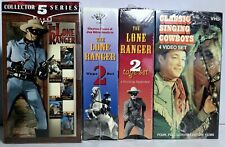 VINTAGE 4 BOX SETS VHS VIDEO'S LONE RANGER AND CLASSIC SINGING COWBOYS FS