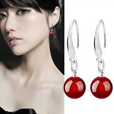 Black Fashion Jewelry Silver Plated Natural Agate Drop/dangle Hook Earrings