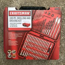 Craftsman 100-PC Drilling & Driving Bits Accessory Kit. 931639 PRIORITY SHIPPING