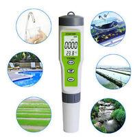 3 in 1 Portable Pen Type Digital pH EC TEMP Meter Water Quality Monitor Tester