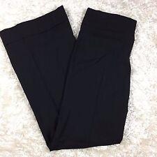 Trina Turk Size 2 Dress Pants 100% Wool Black Wide Leg Career Festive