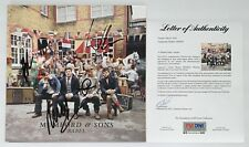 MUMFORD & SONS X4 MARCUS WINSTON TED & BEN SIGNED BABEL RECORD PSA LOA AF06595
