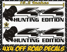 4x4 Truck Decal Set GLOSS BLACK, for Ford F-150, Super Duty F-250 Turkey Hunting