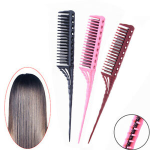 3-Row Teeth Teasing Comb Rat Tail Comb  Hair Styling Hairdressing Comb Brush ^G
