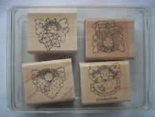 New! Stampin' Up! Angel Faces 1996 Rubber Stamps Set Of 4