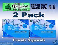 2 Pack Treefrog Fresh Box Mini FRESH SQUASH Scent Car Air Freshener-JDM Product