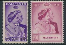 Mauritus 1948 Royal Silver Wedding SG 270-271 MNH