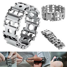 29in1 Multi-Tool Stainless Steel Bracelet for Outdoor Camping Hiking Travel Tool