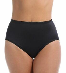 Rago Shapewear Hi-Leg Light Shaping Black Panty Brief Size 28/Medium