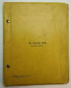 THE CHANGING ROOM / David Storey 1972 Play Script, rugby league football game