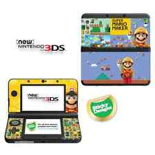 Super Mario Maker Vinyl Skin Sticker for NEW Nintendo 3DS (with C Stick)
