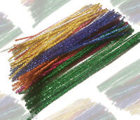 Pipe Cleaners  Sparkle Christmas Chenille Craft Stems  30cm 12 inch UK Seller