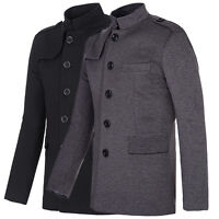 Summer New Mens Casual Slim Fit Button Jacket Trench Coat Outerwear S M L XL 2XL